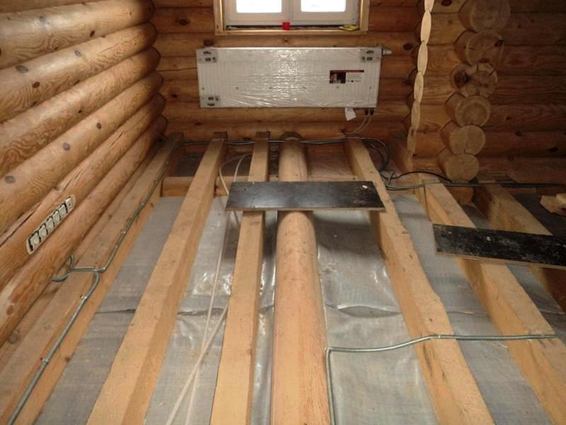 Фото электрика в деревянном доме